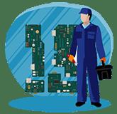 آموزش تعمیرات برد درب های اتوماتیک