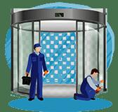 آموزش نصب اپراتور شیشه ای