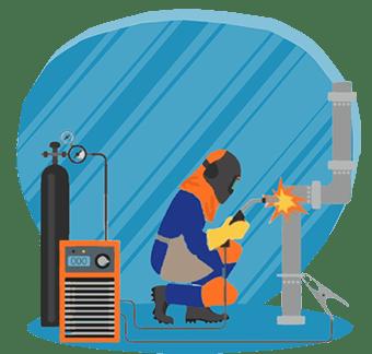 آموزش جوشکاری فلزات رنگی (استیل،آلومینیوم،مس)