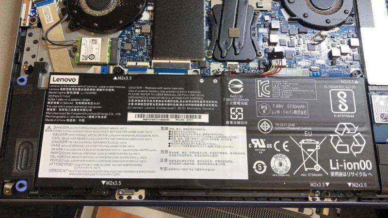 خطرات باتری لپ تاپ باد کرده