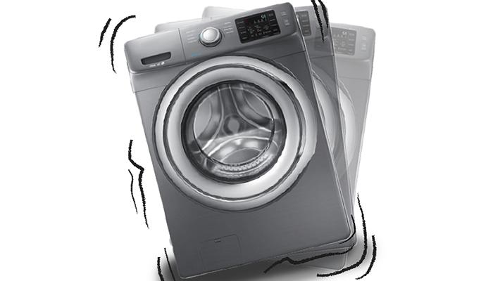 علت تکان خوردن ماشین لباسشویی